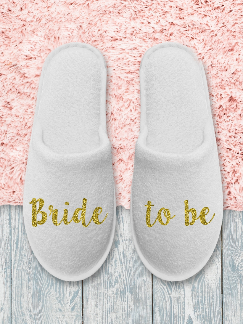 Papuci Bride to Be Auriu