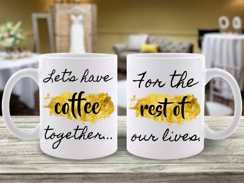 Set Căni Cuplu Let's Get Coffee Together