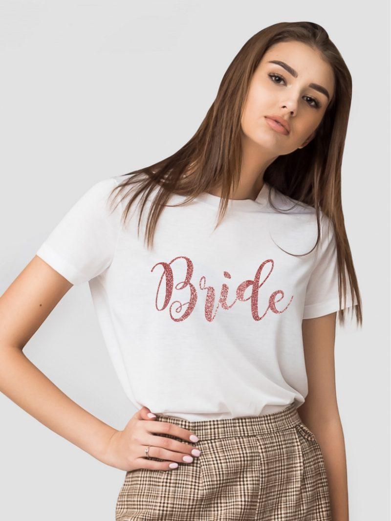 TRICOU BRIDE GLITTER ROSE GOLD