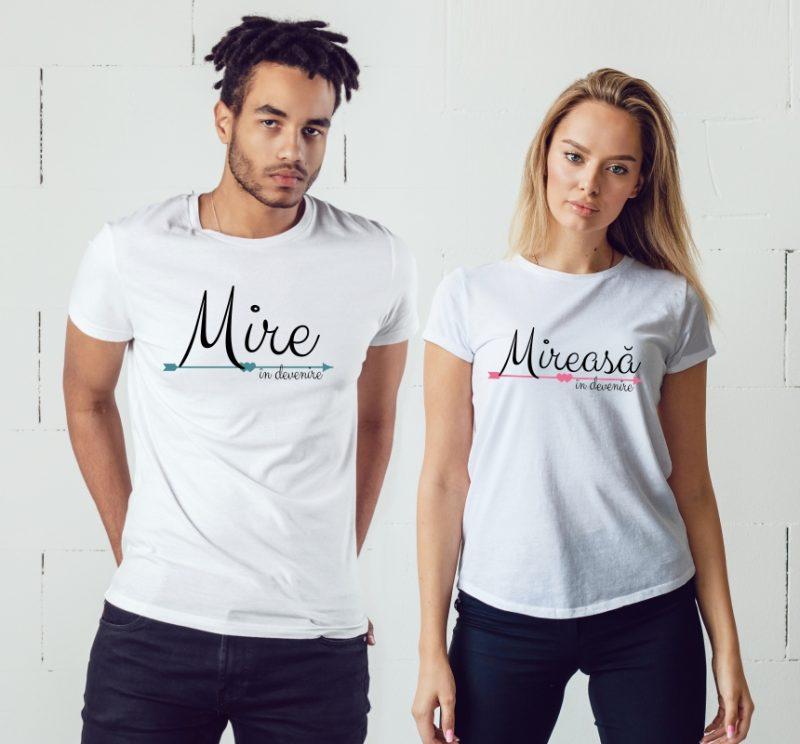 Tricouri Cuplu Mire și Mireasă în devenire