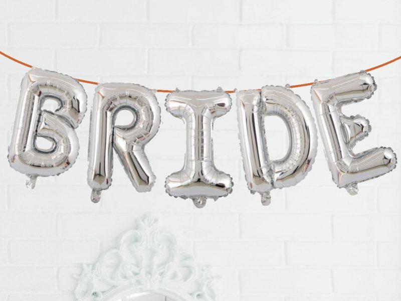 Baloane Bride Argintiu 75 cm