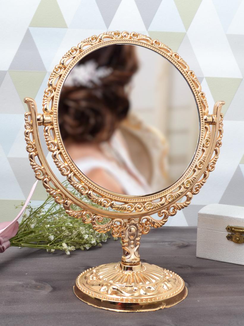 Oglindă Rotundă Aurie