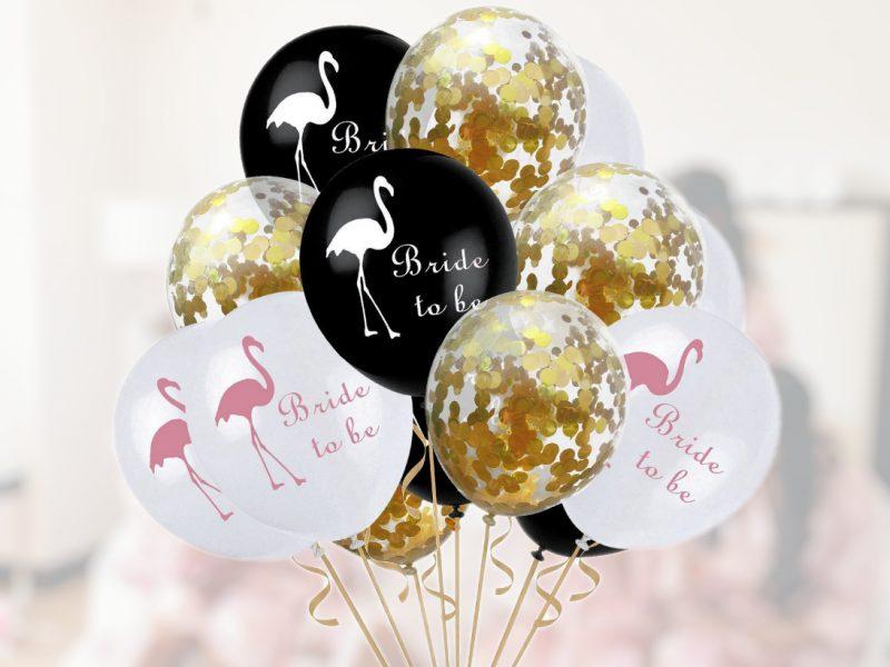 Set Baloane Confeti Flamingo Auriu