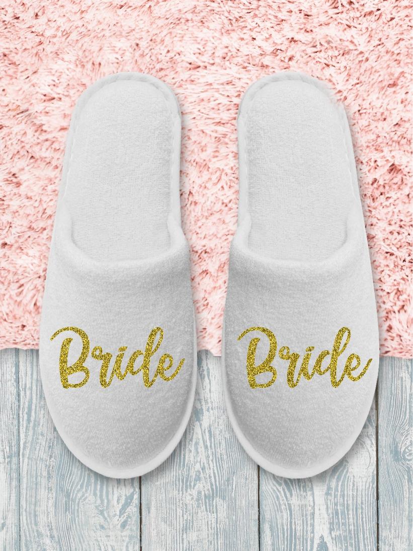 Papuci Bride Auriu